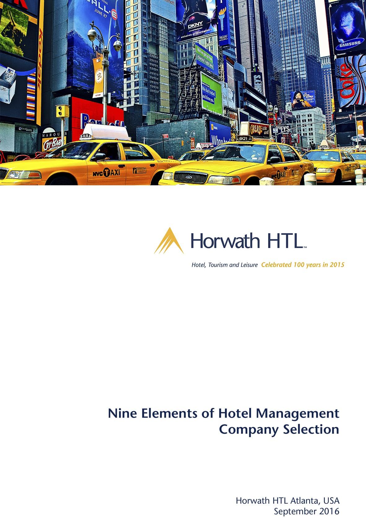 Nine Elements of Hotel Management Company Selection 1