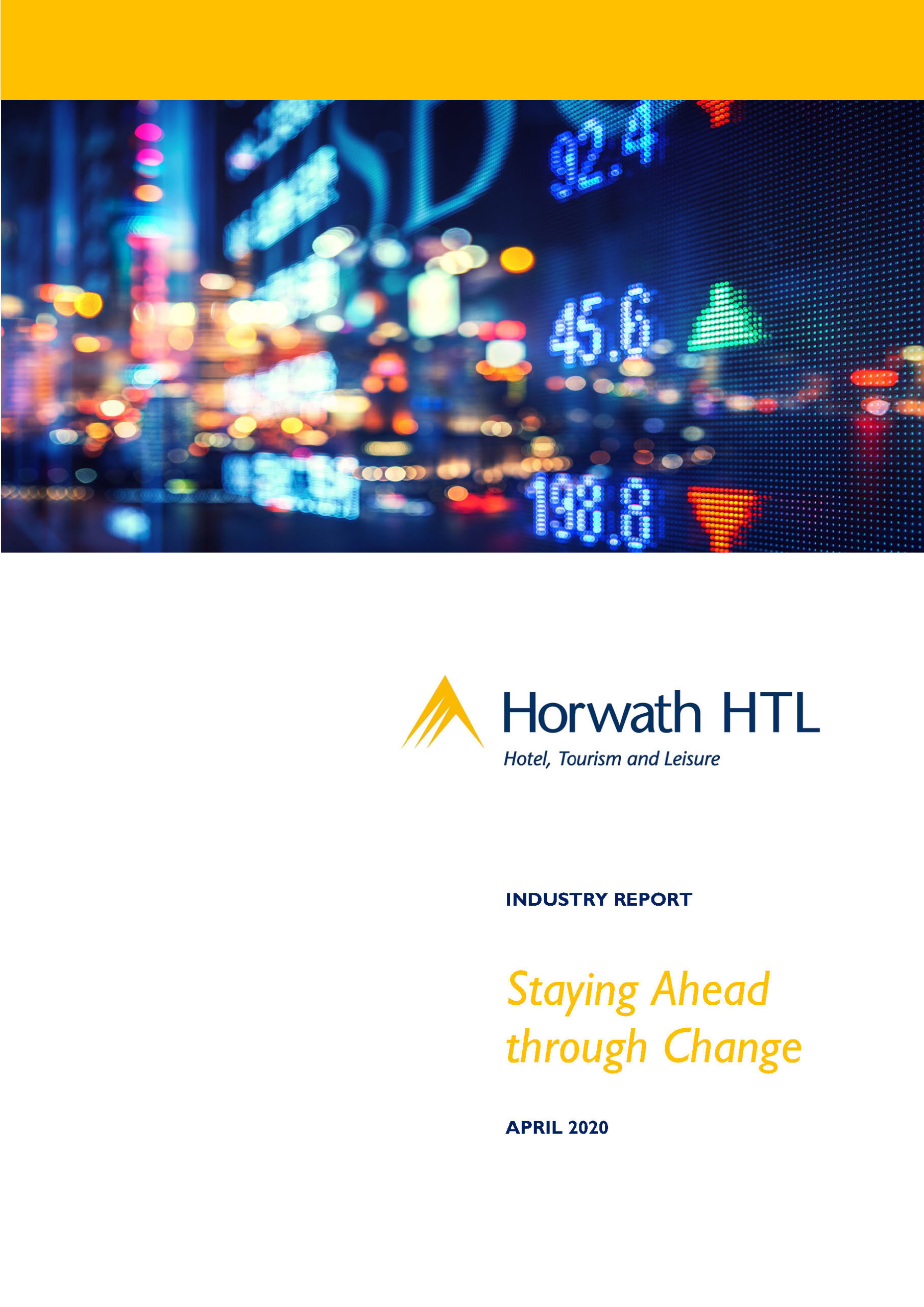 Industry Report Staying ahead through Change Page 1