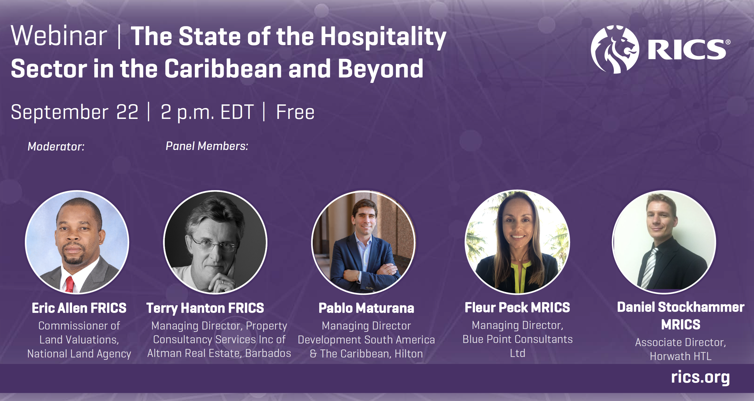 The State of the Hospitality Sector in the Caribbean & Beyond Webinar, Tues 22 Sept 2020