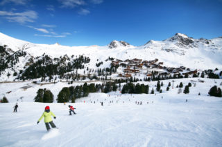 France La Plagne Winter Snow
