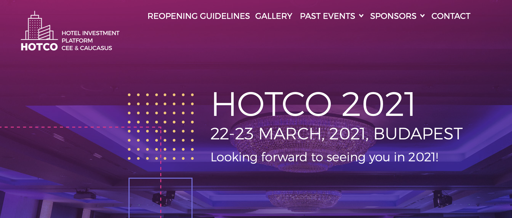 HOTCO announces dates for live meeting in 2021